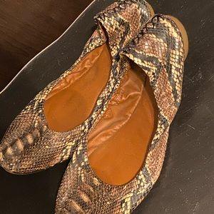 Snake skin lucky brand flats